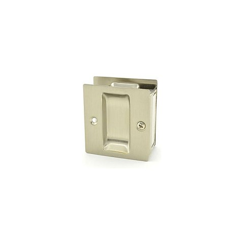 Trimco 1064.619 Passage Pocket Door Lock Square Cutout Satin Nickel Finish