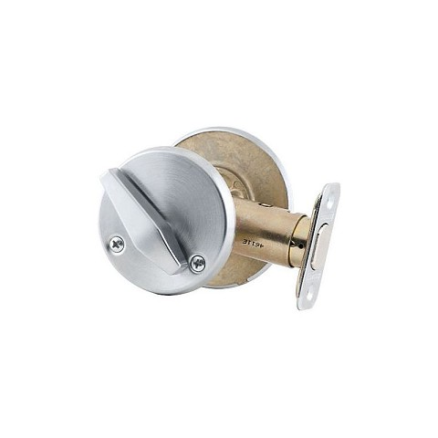 Schlage Commercial B571626 Grade 2 Occupancy Indicator Deadbolt with 12287 Latch and 10094 Strike Satin Chrome Finish