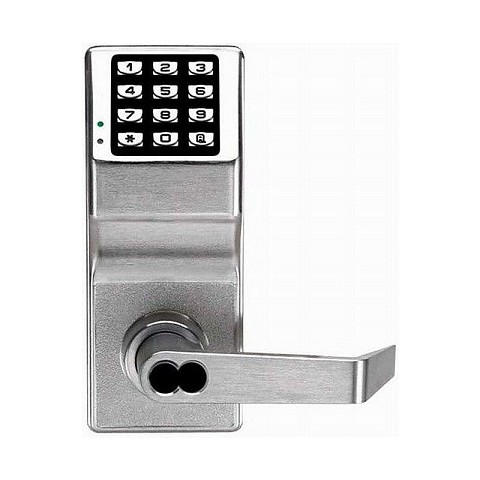 Alarm Lock DL2700IC/26D Trilogy Electronic Digital Lever Lock with Interchangeable Core for Best Prep Satin Chrome Finish