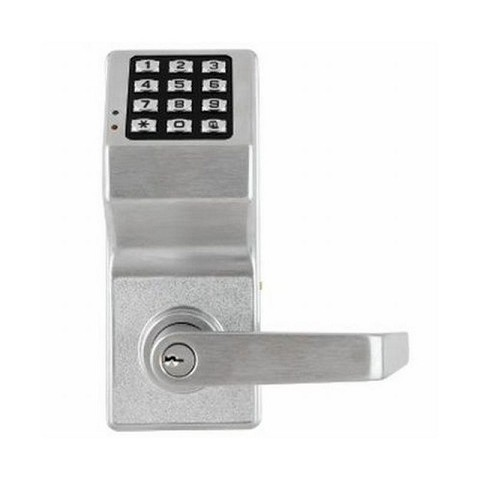 Alarm Lock DL2700WP26D Weather Resistant Trilogy Electronic Digital Lever Lock Satin Chrome Finish