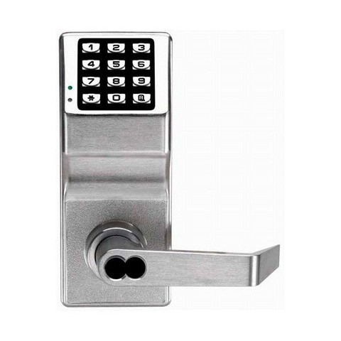 Alarm Lock DL2700WPIC26D Weather Resistant Trilogy Electronic Digital Lever Lock with Interchangeable Core Satin Chrome Finish