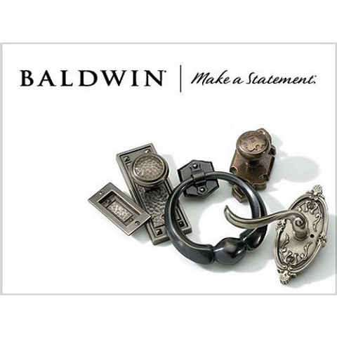 "Baldwin 0419050 Traditional Mortise Door Bolt with 2-3/8"" Backset Antique Brass Finish"