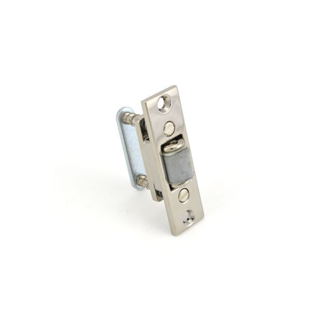 Baldwin 0430055 Roller Latch With Full Lip Strike Lifetime Bright Nickel Finish