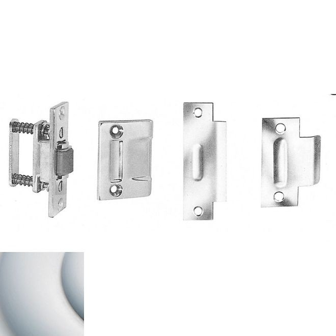 Baldwin 0432264 Roller Latch With T Strike Satin Chrome Finish